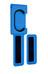 Cycloc Endo Fahrradhalterung blue